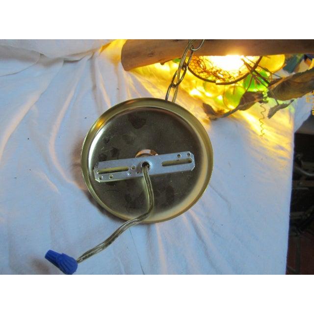 Vintage Grape Cluster Acrylic Pendant Light For Sale - Image 10 of 12