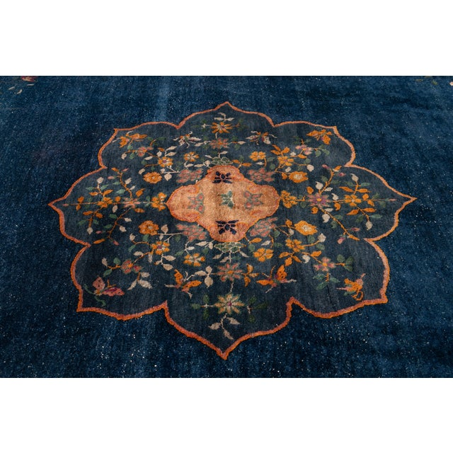 Early 20th Century Antique Art Deco Chinese Square Wool Rug 13 X 12 For Sale - Image 11 of 13