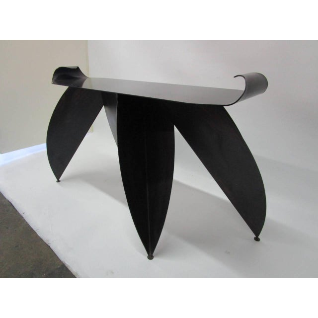 Steel Console Table with Sculptural Legs - Image 5 of 8
