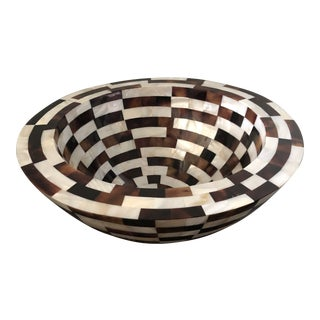 Palecek Shell Tile Bowl For Sale