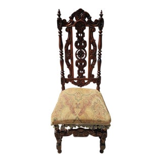 Early 18th Century Vintage Jacobean Chair For Sale