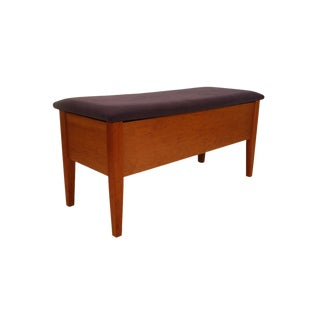 Danish Mid Century Blanket Chest Bench For Sale