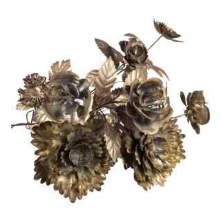 Collection of Hand Cut Brass Flowers For Sale