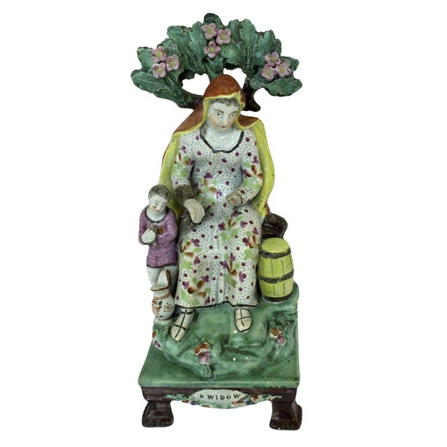 """1820s Staffordshire """"Widow"""" Figure For Sale - Image 9 of 9"""