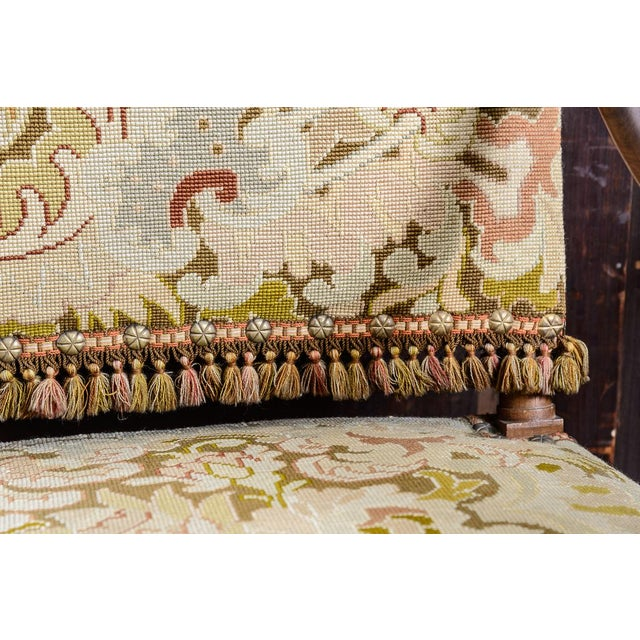 Wood C.1860 French Needlepoint Armchairs - a Pair For Sale - Image 7 of 10