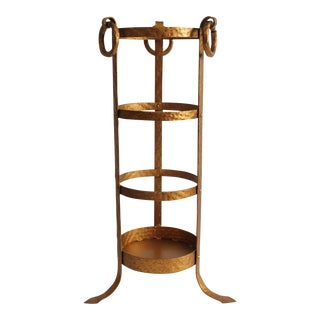 1930s Vintage Gilded Umbrella Stand For Sale