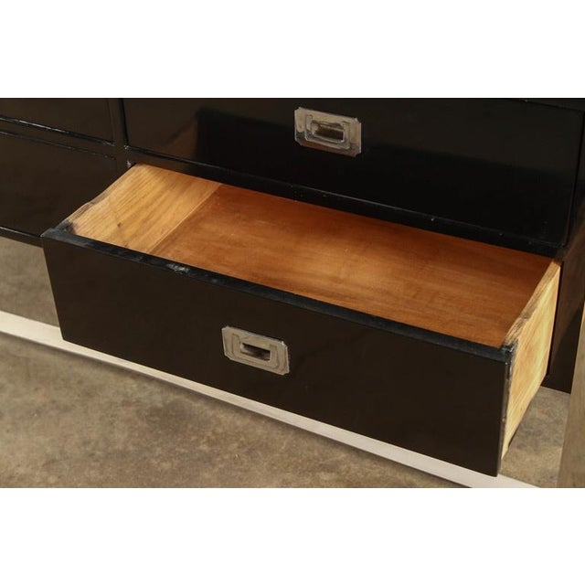 Steel & Wood Sideboard with Black Enamel Finish - Image 4 of 9
