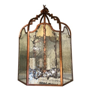 Vintage Dennis & Leen Lantern Chandelier Light Fixture For Sale