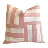 Image of Schumacher Horst Stripe Patchwork Pillow Cover For Sale