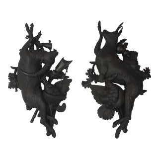 Black Forest Dead Game Plaques, a Pair For Sale