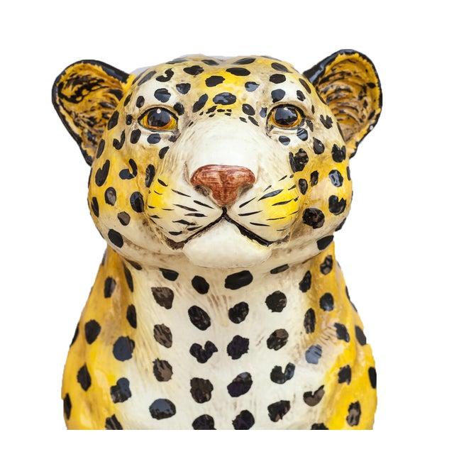 Mid-Century Ceramic Leopard - Image 8 of 10