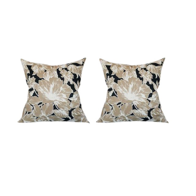 Vintage Floral Throw Pillows - A Pair - Image 1 of 5