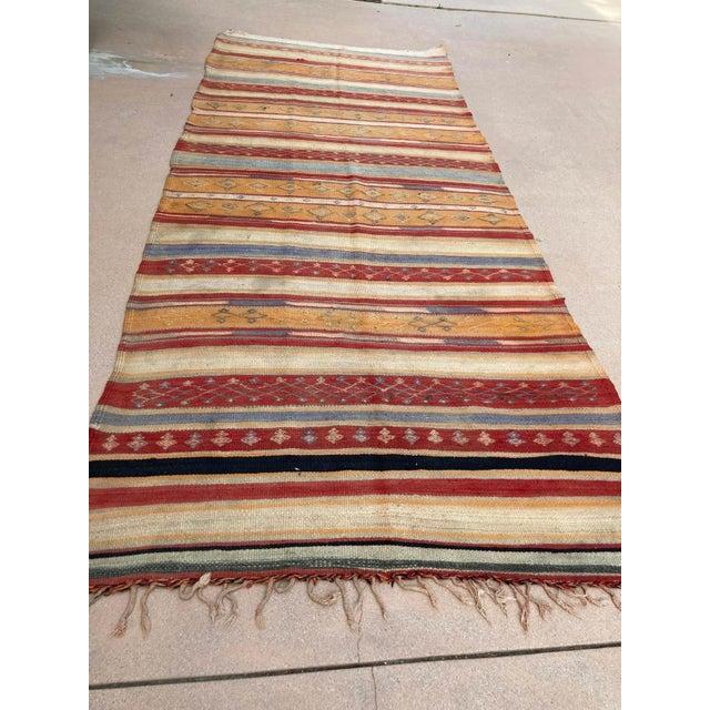 Vintage Moroccan Tribal Kilim Rug, circa 1960 For Sale In Los Angeles - Image 6 of 13