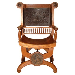 Late 19th century Grecian Revival Arm Chair For Sale