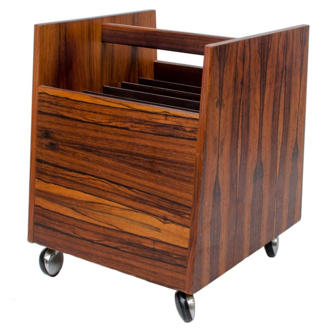 Mid 20th Century Rolf Hesland for Bruksbo Rosewood Magazine or LP Rack For Sale - Image 5 of 5
