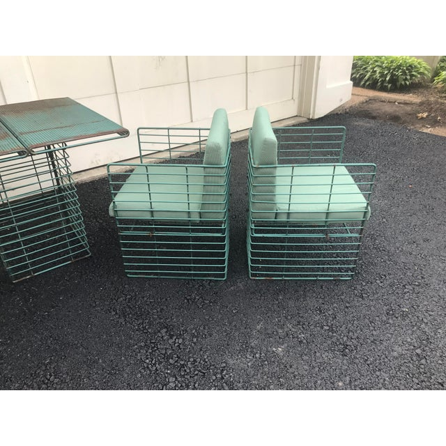 Rare Josef Hoffmann Style Curvilinear Perforated Outdoor Dining Set - 5 Pieces For Sale - Image 9 of 12