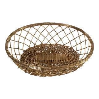 Vintage Mid Century Brass Wire Basket