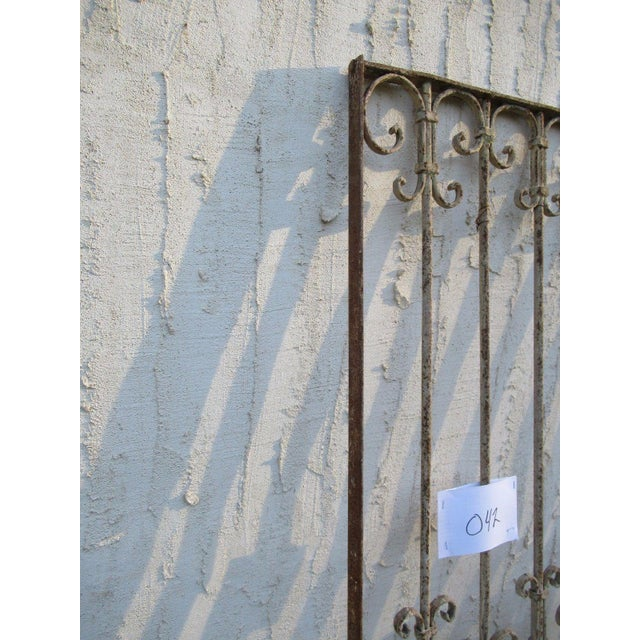 Antique Victorian Iron Gate Window Garden Fence Architectural Salvage Door #042 For Sale - Image 5 of 6