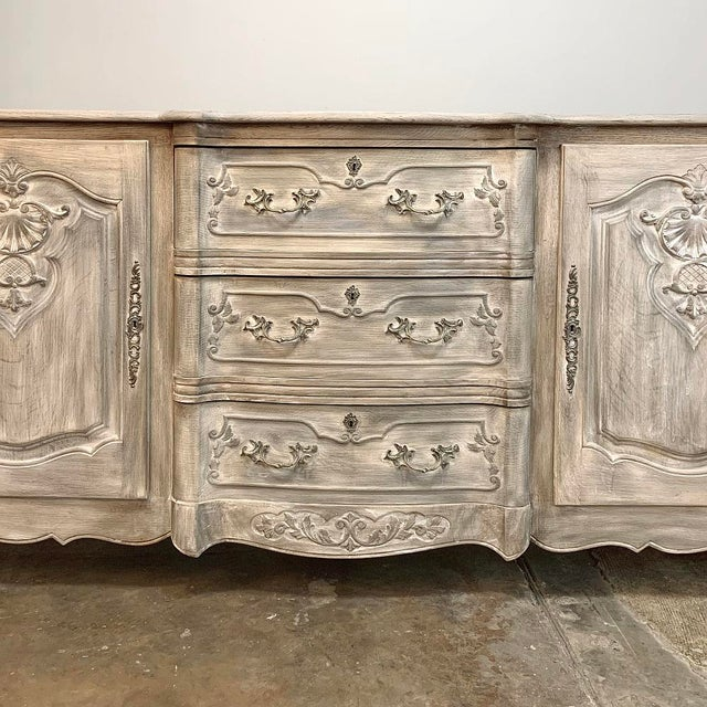 Metal Antique French Louis XV Whitewashed Buffet For Sale - Image 7 of 13