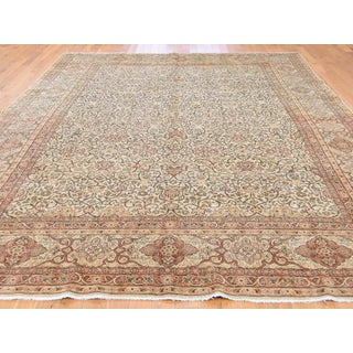 1920s Vintage Persian Tabriz Hand-Knotted Wool Full Pile Rug - 8′6″ × 12′1″ Preview