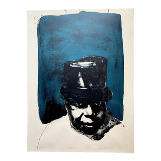 Mid-Century Portrait Monotype by Laura Smith For Sale