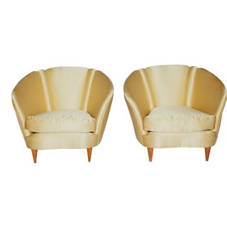 1940s Vintage Italian Club Chairs - a Pair For Sale
