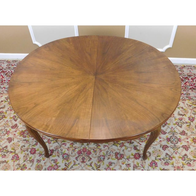 Baker Furniture Company Fruitwood Cherry Oval French Provincial Style Baker Furniture Dining Table For Sale - Image 4 of 11