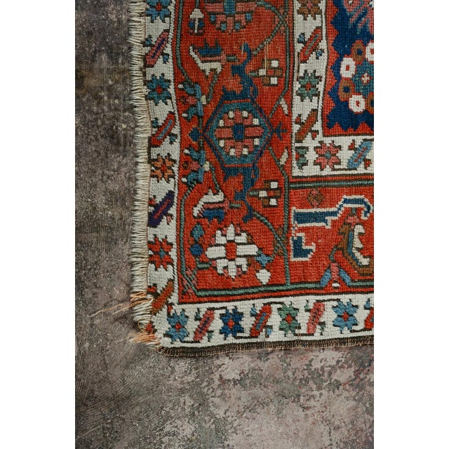 Caucasian Kazak Tribal Design Runner Rug - 4′ × 12′11″ For Sale In Los Angeles - Image 6 of 10