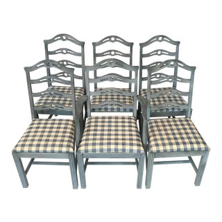 Vintage Ca. 1900 French Country Ladderback Chairs - Set of 6