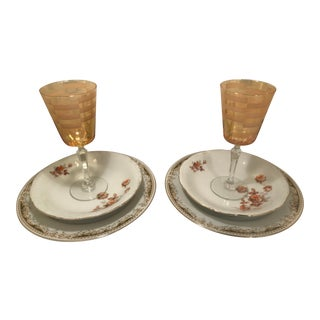1960s Vintage Earth Tone China Serving Set- 6 Pieces For Sale