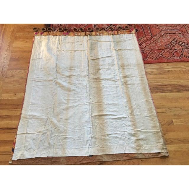 Antique Indian Phulkari Fabric Panels - A Pair - Image 7 of 12