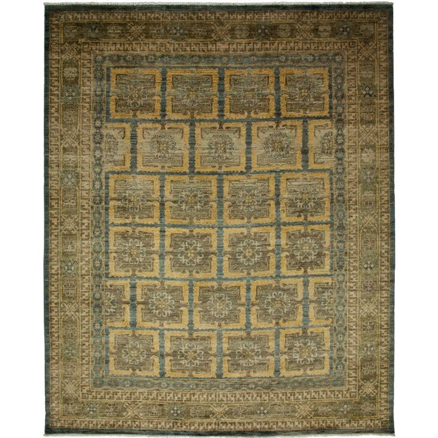 """Khotan Hand Knotted Area Rug - 8'1"""" X 9'9"""" - Image 2 of 3"""