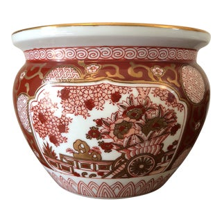 Gold Imari Hand Painted Planter For Sale