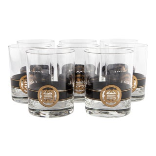 Black & Gold Shou Tumblers by Cera for Neiman Marcus For Sale
