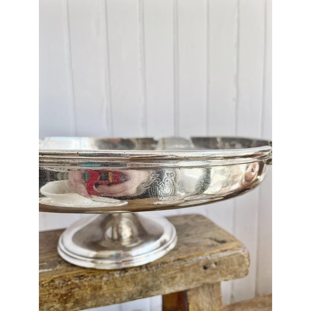 Reed & Barton Antique Silver Plated Dessert Stand From the Willard Hotel in Washington DC For Sale - Image 4 of 10