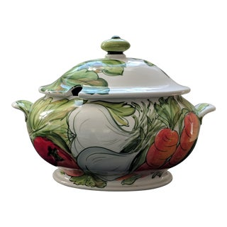 Hand Painted Tureen - by Vietri For Sale