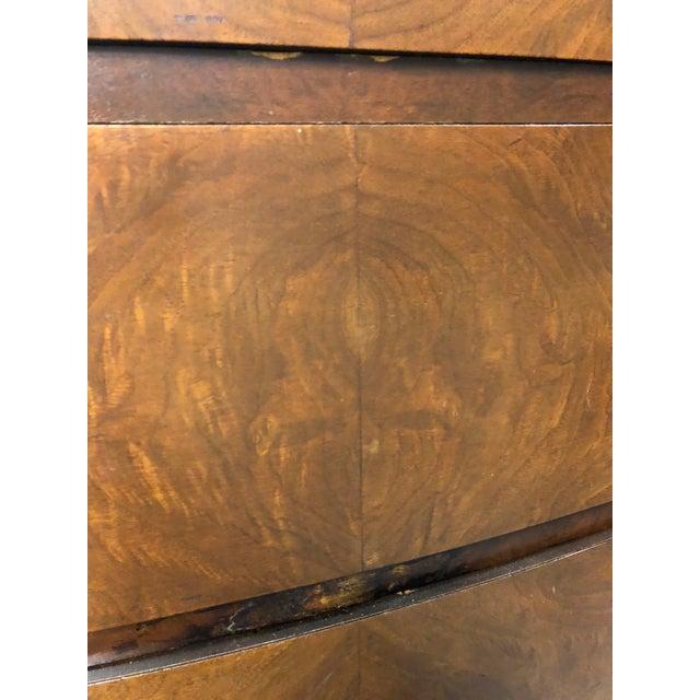 Art Deco Antique Square Brass Pulls Wood Dresser For Sale - Image 3 of 11