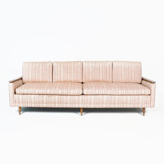 Not sure the history of this sofa, but it comes from the Louis Kahn Shapiro home. Mid century style with walnut trim,...