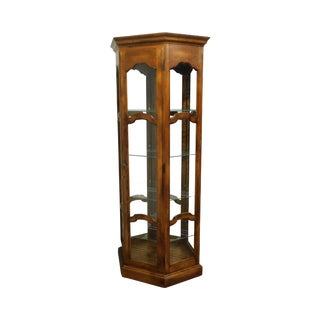 Ethan Allen Country French Lighted Curio Display Cabinet For Sale