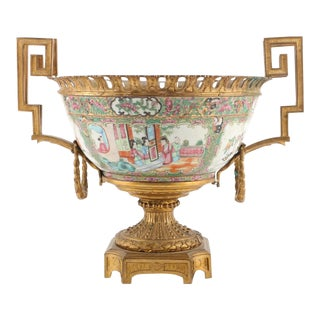 19th Century Chinese Canton Export Punch Bowl For Sale