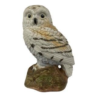 Vintage Realistic Owl Figurine For Sale