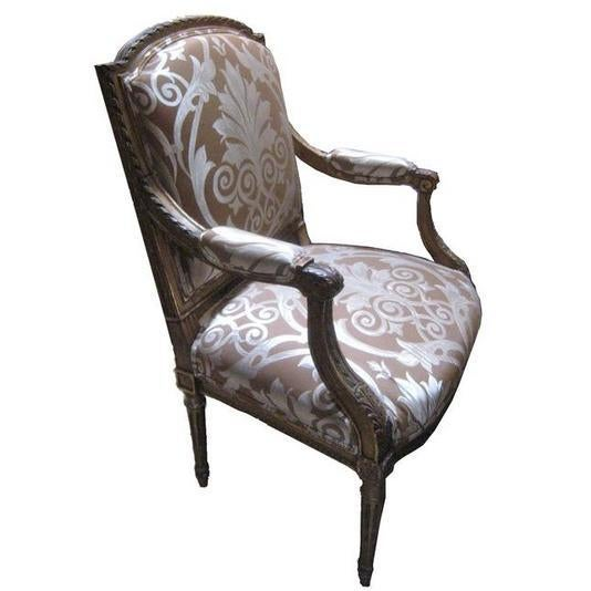 """Pair of 19th c. Italian carved wood Parcel giltwood arm chairs 37""""H 23 1/2""""L"""