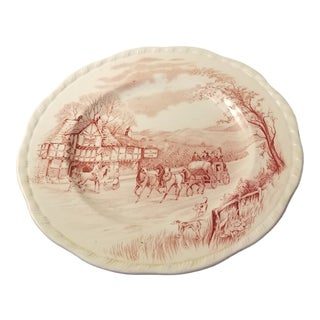 "English Alfred Meakin ""Devonshire Road"" Staffordshire Plate For Sale"