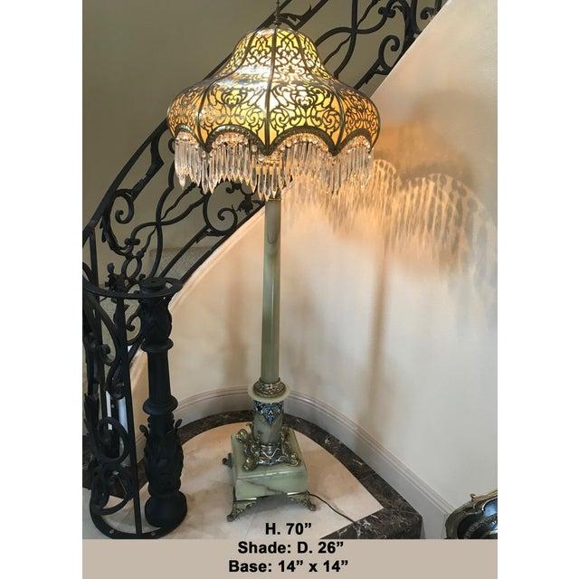 French Champleve And Onyx Bronze Floor Lamp 19th Century Chairish