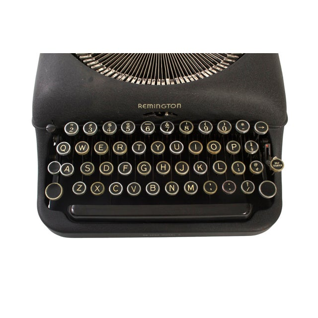 Metal Remington Rand Typewriter - Model 5 in Excellent Working Order For Sale - Image 7 of 9
