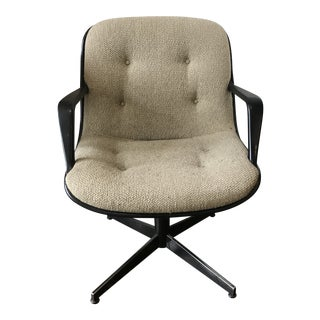 Vintage Mid-Century Knoll Style Upholstered Office Chair For Sale