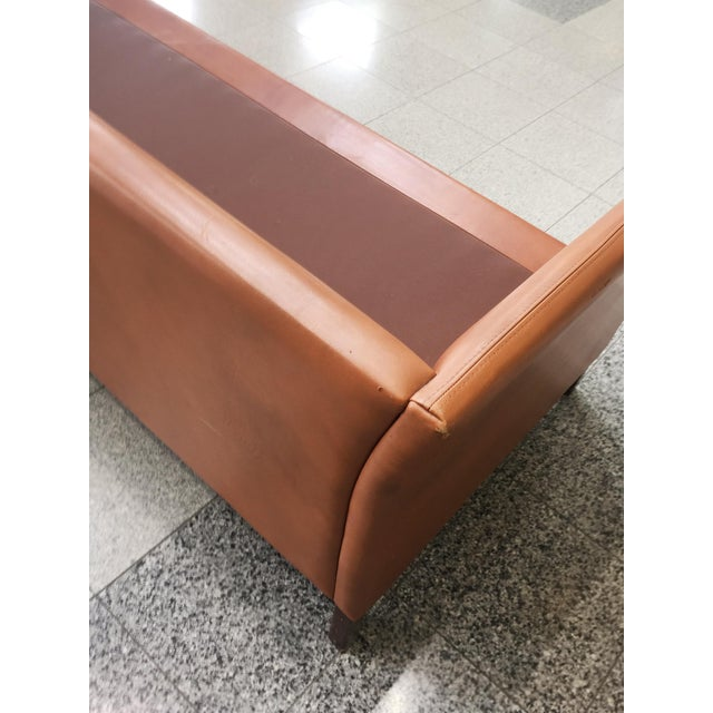 Danish Mid-Century Modern Leather Sofa by Mogens Hansen For Sale - Image 10 of 11