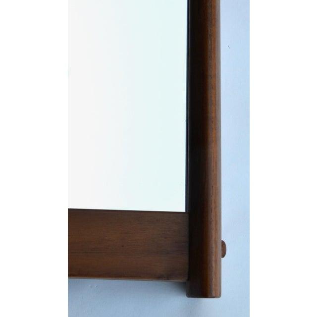 Large sleek modern Mid-Century Scandinavian teak rectangular mirror, designed by Aksel Kjersgaard for Odder in Denmark,...