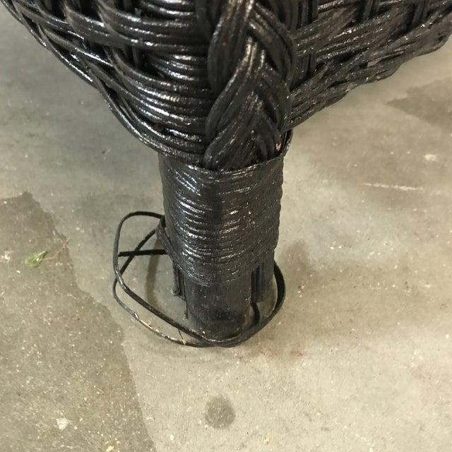 Black Wicker Armchair - Image 3 of 6