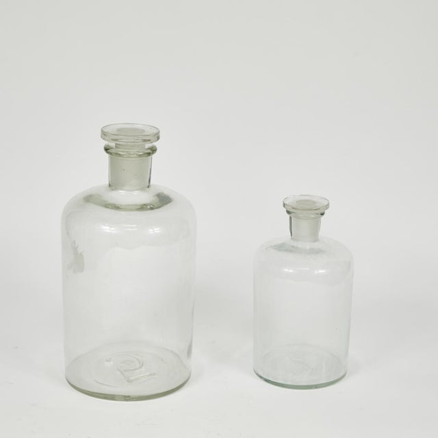 1940s 1940s English Glass Bottle with Stopper For Sale - Image 5 of 8